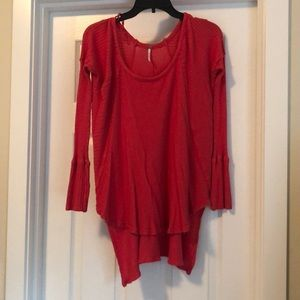 Free People waffle knit scoop neck size small